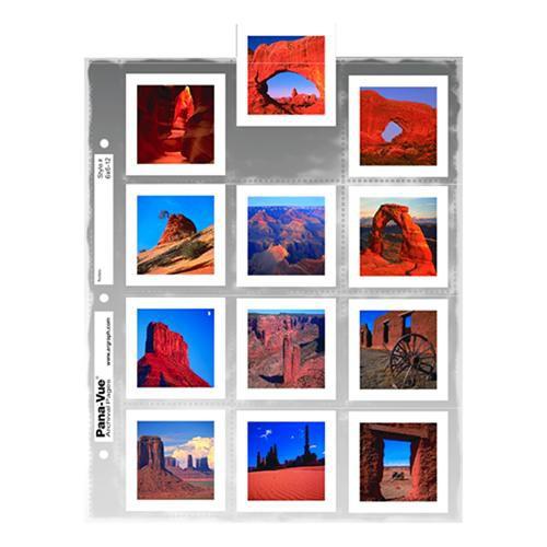 Pana-Vue Archival Top-Loading Slide Page (Holds Twelve 120 6x6 Slides, 100 Pages)