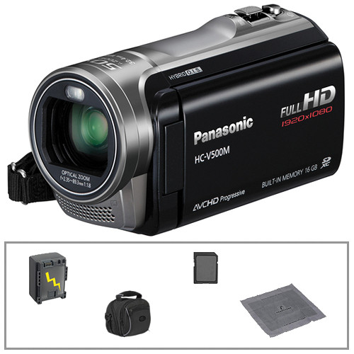 Panasonic 16GB HC-V500M Full HD Camcorder with Basic Accessories B&H Kit