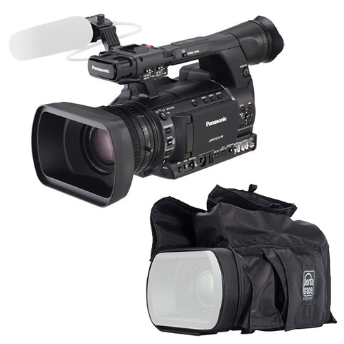 Panasonic AG-AC130A AVCCAM Camcorder Kit with Porta Brace Rain Slicker