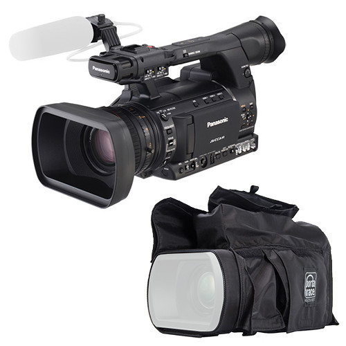 Panasonic AG-AC160A AVCCAM Camcorder Kit with Porta Brace Rain Slicker