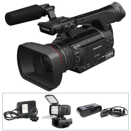 Panasonic Ag Hpx250 P2 Hd Handheld Camcorder With Power border=