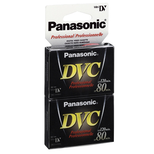 Panasonic AY-DVM80XJ Mini DV Professional Digital Video Cassette (2- PacK)