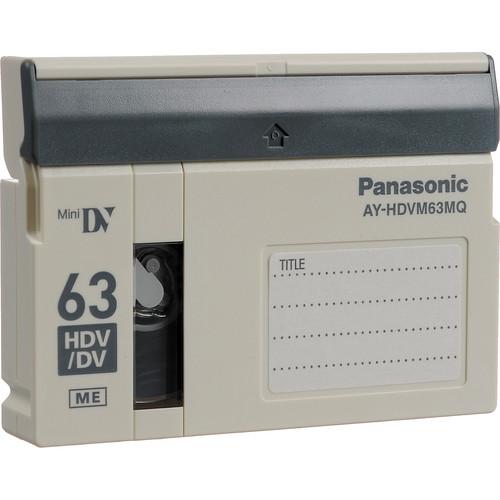 Panasonic AY-HDVM63MQ Mini 63 Minute Master Quality HDV/Pro DV-Compatible Tape