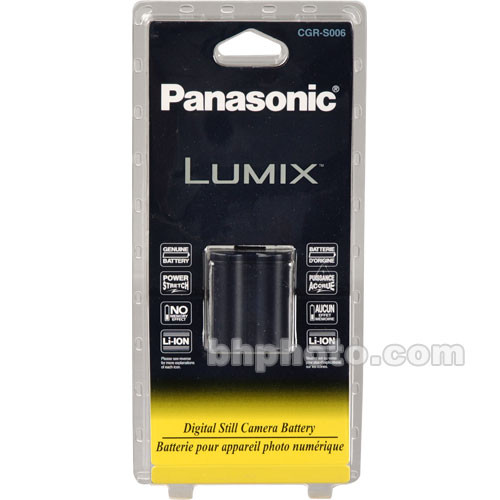 Panasonic CGR-S006 Rechargeable Lithium-Ion Battery (7.2V, 710 mAh)