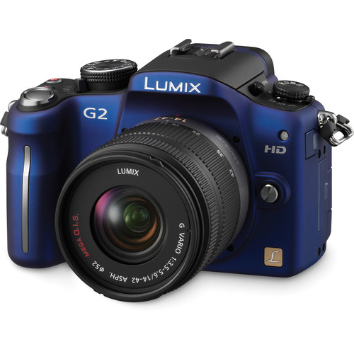 Panasonic Lumix DMC-G2 Interchangeable Lens System Digital Camera (Blue)