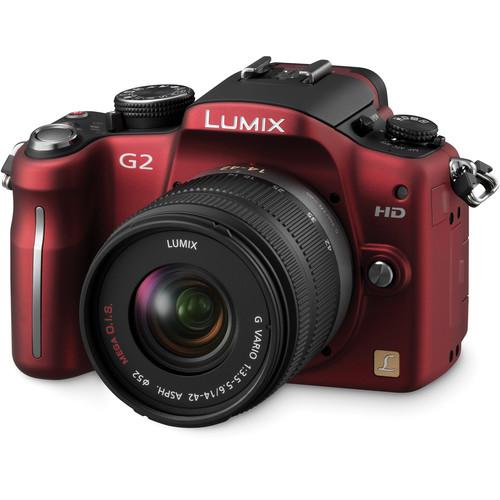 Panasonic Lumix DMC-G2 Interchangeable Lens System Digital Camera (Red)