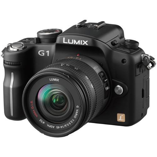 Panasonic Lumix DMC-G1 SLR-Style Digital Camera (Black) with 14-45mm Lens
