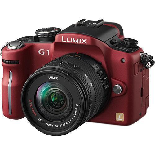 Panasonic Lumix DMC-G1 SLR-Style Digital Camera (Red) with 14-45mm Lens