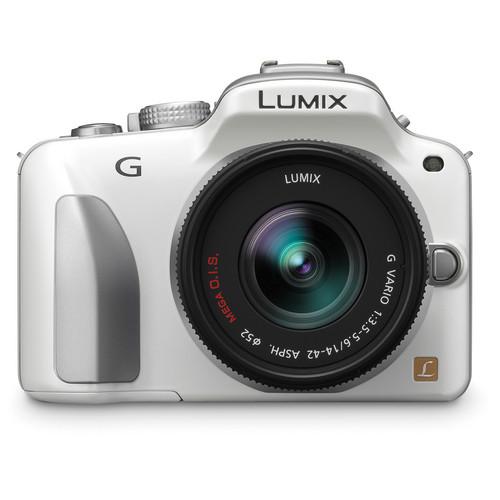 Panasonic Lumix DMC-G3 Mirrorless Micro Four Thirds Digital Camera with G Vario 14-42mm f/3.5 - 5.6 Lens (White)