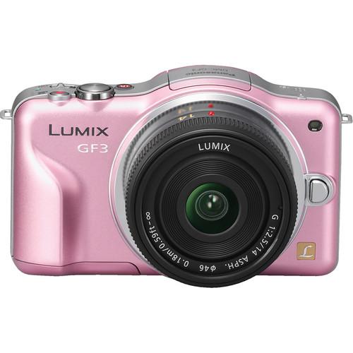 Panasonic Lumix DMC-GF3 Digital Camera with 14mm Lens Kit (Pink)