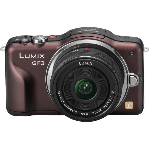Panasonic Lumix DMC-GF3 Digital Camera with 14mm Lens Kit (Brown)