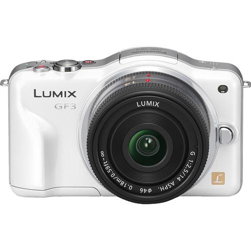 Panasonic Lumix DMC-GF3 Digital Camera with 14mm Lens Kit (White)