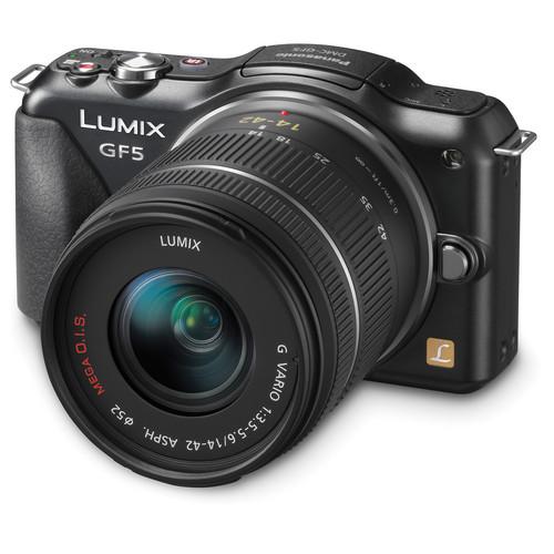 Panasonic Lumix DMC-GF5 Mirrorless Micro Four Thirds Digital Camera with 14-42mm f/3.5-5.6 Lens (Black)