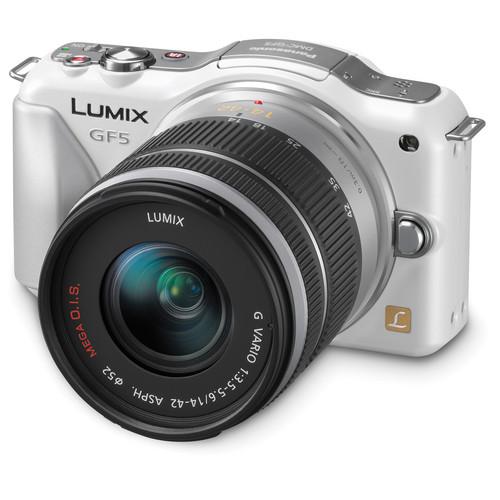 Panasonic Lumix DMC-GF5 Mirrorless Micro Four Thirds Digital Camera with 14-42mm f/3.5-5.6 Lens (White)