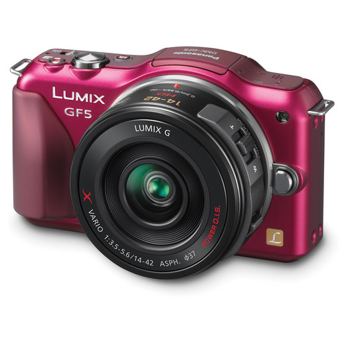 Panasonic Lumix DMC-GF5X Mirrorless Micro Four Thirds Digital Camera with 14-42mm f/3.5-5.6 Lens (Red)