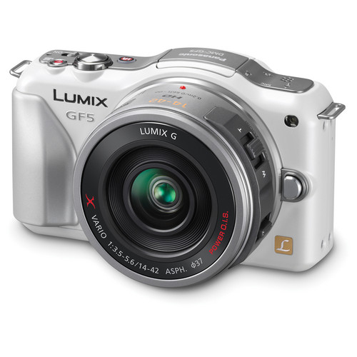 Panasonic Lumix DMC-GF5X Mirrorless Micro Four Thirds Digital Camera with 14-42mm f/3.5-5.6 Lens (White)