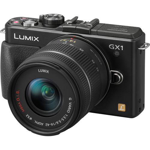 Panasonic LUMIX DMC-GX1 Mirrorless Micro Four Thirds Digital Camera with G VARIO 14-42mm Lens Kit (Black)