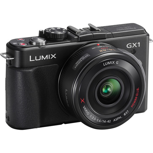 Panasonic LUMIX DMC-GX1 Mirrorless Micro Four Thirds Digital Camera with G X VARIO PZ 14-42mm f/3.5-5.6 Lens (Black)