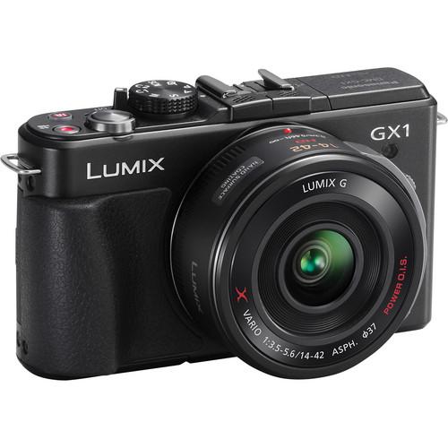 Panasonic LUMIX DMC-GX1 Mirrorless Micro Four Thirds Digital Camera with G X VARIO PZ 14-42mm f/3.5-5.6 Lens (Black)