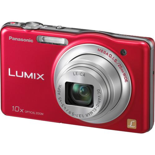 Panasonic LUMIX DMC-SZ1 Digital Camera (Red)