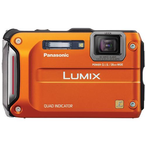 Panasonic Lumix DMC-TS4 Digital Camera (Orange)