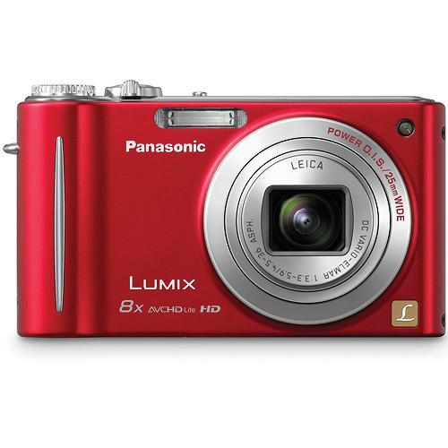 Panasonic LUMIX DMC-ZR3 Digital Camera (Red)