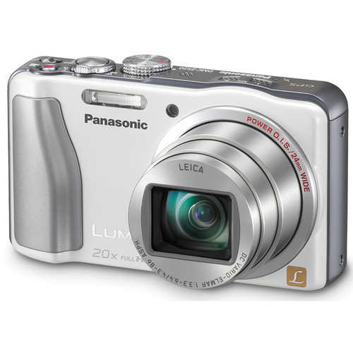 Panasonic Lumix DMC-ZS20 Digital Camera (White)
