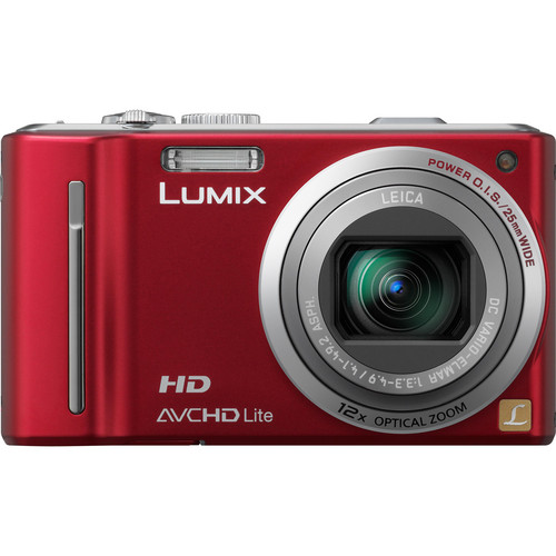 Panasonic LUMIX DMC-ZS7 (Red) Digital Camera