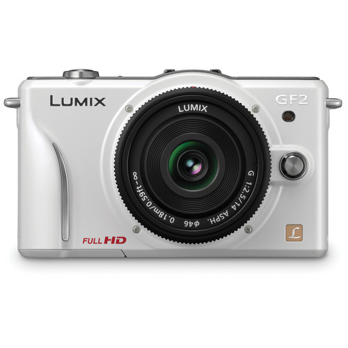 Panasonic Lumix DMC-GF2 Digital Micro Four Thirds Camera W/14mm Lens (White)