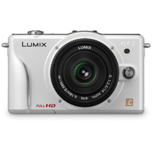 Panasonic Lumix DMC-GF2 Digital Micro Four Thirds Camera W/14mm Lens (White)