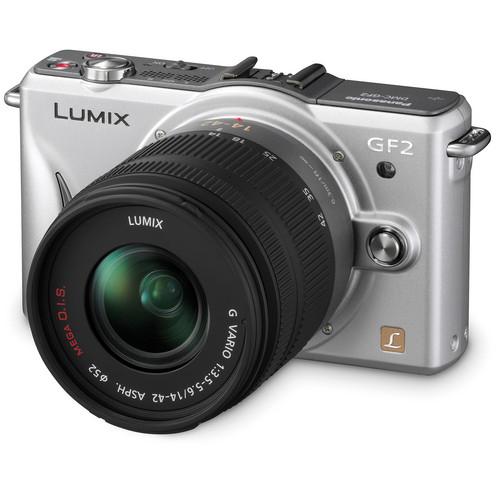Panasonic Lumix DMC-GF2 Digital Micro Four Thirds Camera W/14-42mm Lens (Silver)