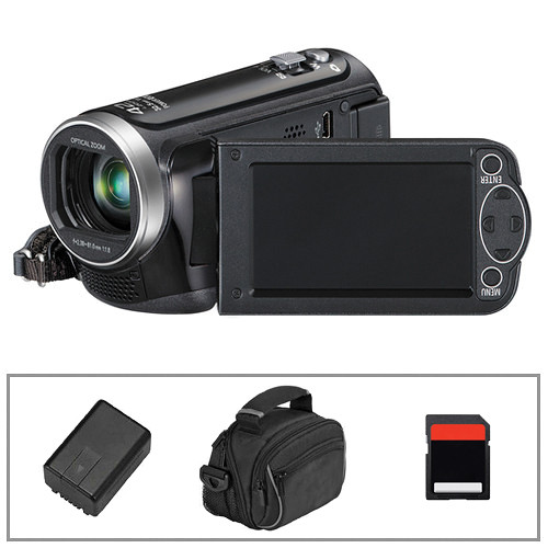 Panasonic HC-V100 HD Camcorder, Battery, Camera Bag & Memory Card B&H Kit