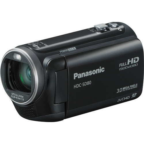 Panasonic HDC-SD80 High Definition Camcorder (Black)