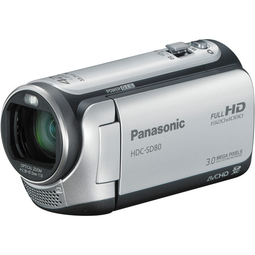 Panasonic HDC-SD80 High Definition Camcorder (Silver)