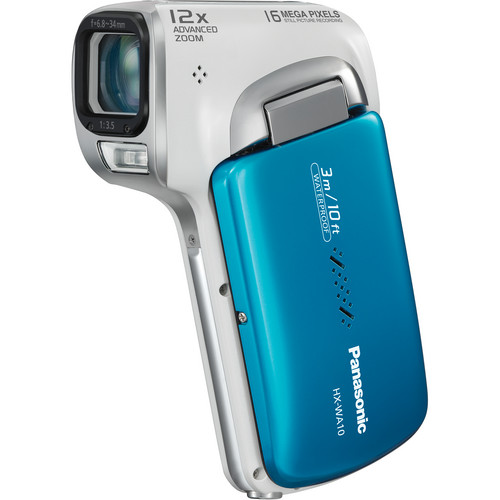 Panasonic HX-WA10 HD Waterproof Dual Camcorder (Blue)