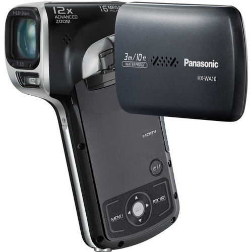 Panasonic HX-WA10 HD Waterproof Dual Camcorder (Black)