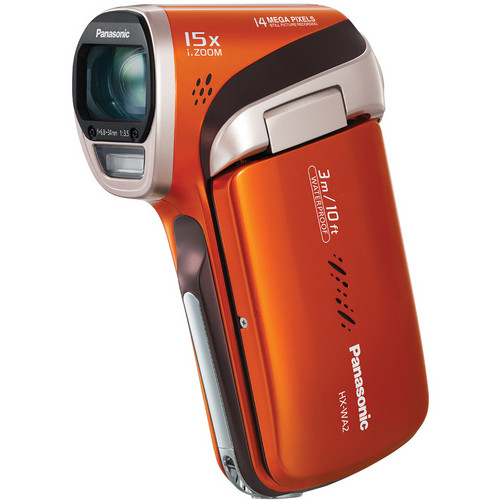 Panasonic HX-WA2 HD Waterproof Dual Camcorder (Orange)