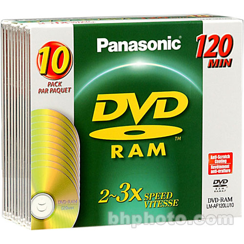 Panasonic LMAF120LU10 DVD-RAM Disc (10)