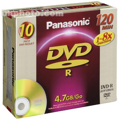 Panasonic 4.7GB (120 Minutes) 8x DVD-R Discs - 10 Pack