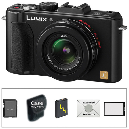 Panasonic Lumix DMC-LX5 Digital Camera with Deluxe Accessory Kit (Black)