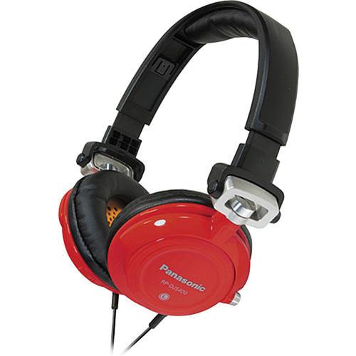Panasonic RP-DJS-400 DJ Street Style Headphones (Red)