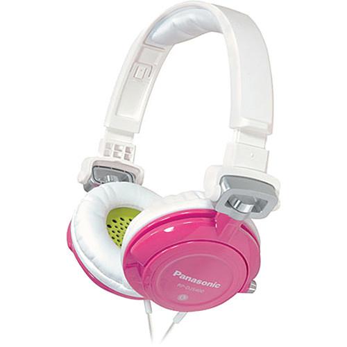 Panasonic RP-DJS-400 DJ Street Style Headphones (White/Pink)