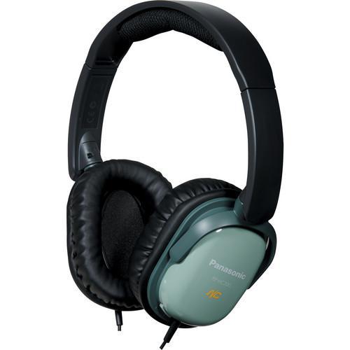 Panasonic RP-HC200 Noise Canceling Around-Ear Stereo Headphones (Green)