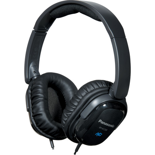 Panasonic RP-HC200 Noise Canceling Around-Ear Stereo Headphones (Black)