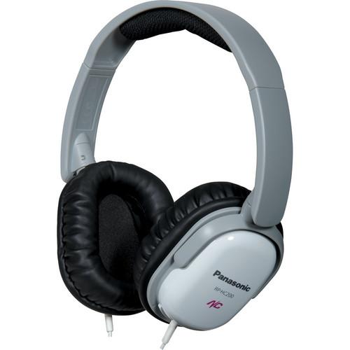 Panasonic RP-HC200 Noise Canceling Around-Ear Stereo Headphones (White)