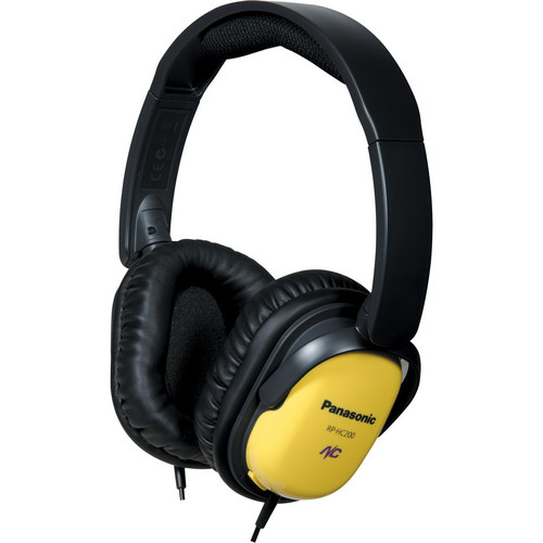 Panasonic RP-HC200 Noise Canceling Around-Ear Stereo Headphones (Yellow)