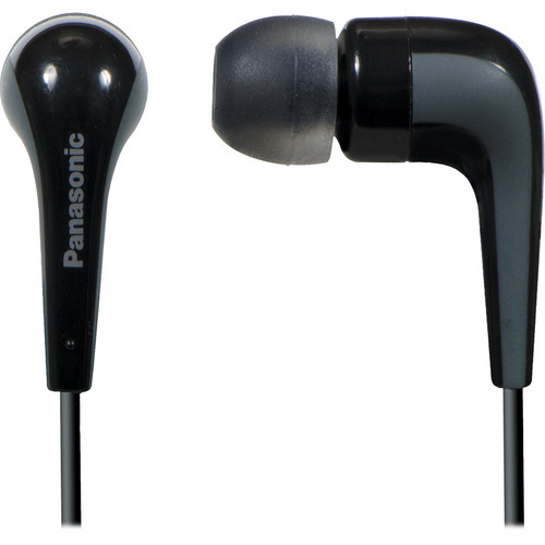 Panasonic RP-HJE140 L-Shaped Earbuds (Black)