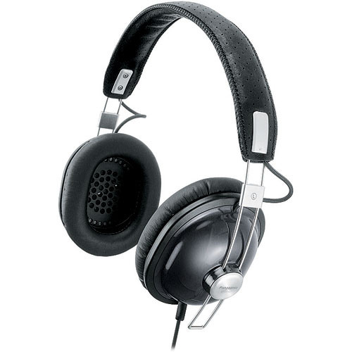 Panasonic RP-HTX7 Around-Ear Stereo Headphones (Black)