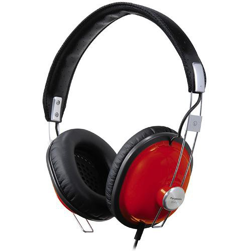 Panasonic RP-HTX7 Around-Ear Stereo Headphones (Red)