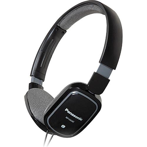 Panasonic RP-HX40 Lightweight On-Ear Stereo Headphones (Black)